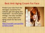 best anti aging cream for face
