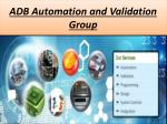 ADB Consulting Presents Manufacturing Equipment Automation