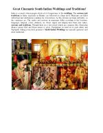 Great Cinematic South Indian Weddings and Traditions!