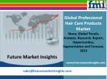 Professional Hair Care Products Market: Global Industry