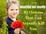 10 Flowers That Can Actually Kill You