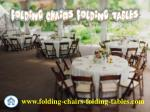 Folding Chairs and Tables Larry