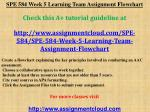 SPE 584 Week 5 Learning Team Assignment Flowchart