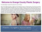 Breast Reconstruction Center Orange County