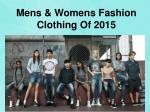 Mens & Womens Clothing Style Fashion Of 2015