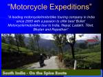 Motorbike/Motorcycle Tours in India