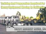 Training And Preparation Required For Heavy Equipment Moving