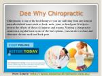 Dee Why Chiropractor for back pain
