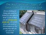 Checkout different types of Solar Panels Ireland and Cost