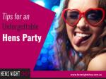 Hens Party Tips