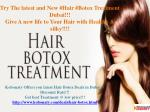 Hair Botox @ Cheap Rate