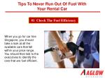 Tips to never run out of fuel with your rental car