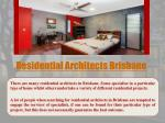 Residential Architects Brisbane