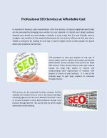 Professional SEO Services at Affordable Cost