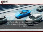 Asia-Pacific Advanced Driver Assistance System Market