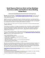 Hyatt Regency Monterey Hotel and Spa Weddings