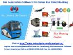 Bus Reservation Software for Online Ticket Booking