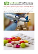 Generic Drug Drop Shippers, Online Pharmacy Dropshipping Ser