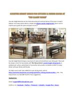 Counter Height Benches: Kitchen & Dining Bars- TheClassyHome