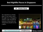 Best nightlife places in Singapore