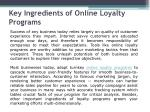 Online Loyalty Programs