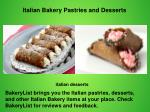 Italian Bakery Pastries and Desserts