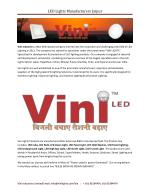LED Lights Manufacturers Jaipur