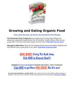 Growing And Eating Organic Food