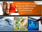 Therapeutic Drug Monitoring Industry Trends, Forecast 2015