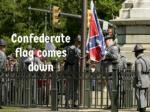 Confederate flag comes down