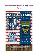 Bars and Stars Fourth of July Block Party