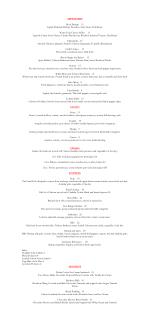 Maker's Mark Bourbon Lounge restaurant dinner menu