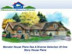 Monster House Plans Has A Diverse Selection Of One Story House Plans