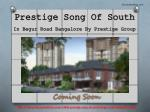 Buy Residential Apartments in Prestige Song Of South at Begur Road Bangalore