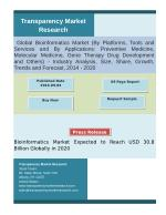 Bioinformatics: A fusion of Computers and Biological Data:Transparency Market Research