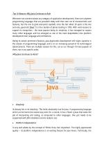 Top 10 Reasons Why Java Continues to Rule
