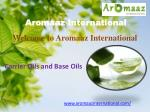Buy Online Pure Carrier oils and Base oils