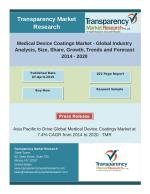 Medical Device Coatings Market- Global Industry Analysis, Size, Growth and Forecast 2014 - 2020