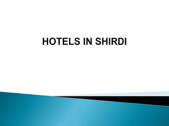 hotels in shirdi n.