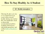 How to stay healthy as a student