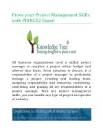 Prove your Project Management Skills with PRINCE2 Exam!