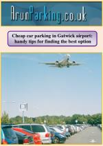 Cheap car parking in Gatwick airport: handy tips for finding the best option