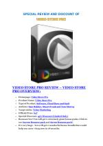 Video Store Pro  review demo and premium bonus