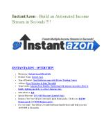 InstanstAzon review & massive  100 bonus items. Review in Detail of InstanstAzon and Premium BONUSES of InstanstAzon