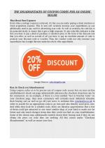 THE DISADVANTAGES OF COUPON CODES FOR AN ONLINE SELLER