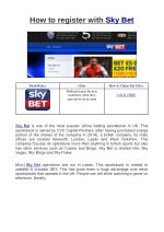 How to register with Sky Bet