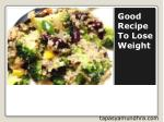 Good recipe to lose weight