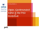 Training Module 1.1 Open Government  Data & the  PSI Directive