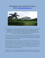 Golf Package in Samui Island,Golf Package in Phuket Pattayagolfpackage.com