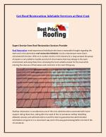 Get Roof Restoration Adelaide Services at Best Cost